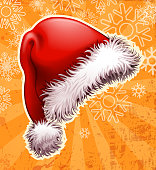 drawn of vector ornate Santa hat.This file has been used illustrator CS3 EPS10 version feature of multiply.