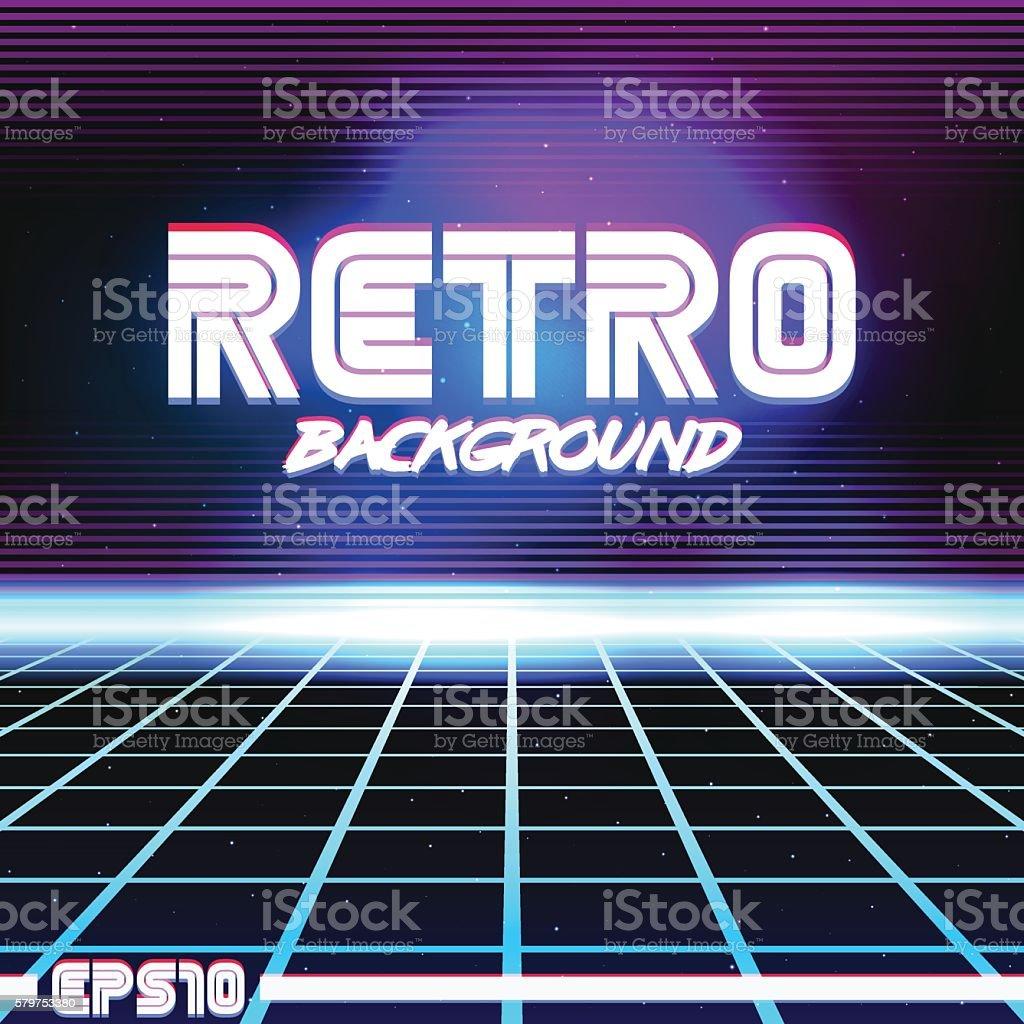 retro sci fi background9 vector art illustration