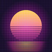 Retro Sci-Fi sunset