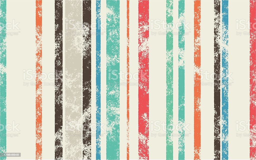 Retro Scratched Background - Color Lines with Different Width on vector art illustration