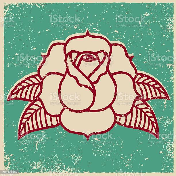 Retro screen print tattoo style rose vector id531490069?b=1&k=6&m=531490069&s=612x612&h=ra0bcazdg9lfhy3abxtkhecbyckhcsqbwchy8hmrhwc=