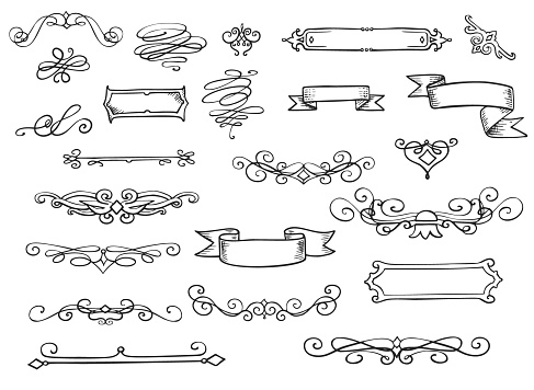 Retro Scroll Dividers and Frame Ribbons