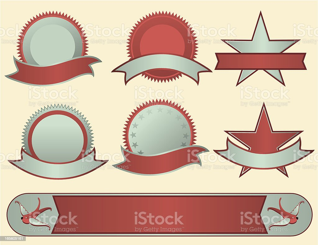 Retro Seals and Banners royalty-free stock vector art