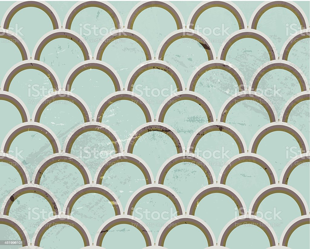 Retro seamless blue pattern royalty-free stock vector art