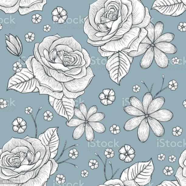 Retro seamless hand drawn rose pattern vector id474419946?b=1&k=6&m=474419946&s=612x612&h=birnas7ltbamriuauuab4fvtoiflcwrgqni3v1df9jq=