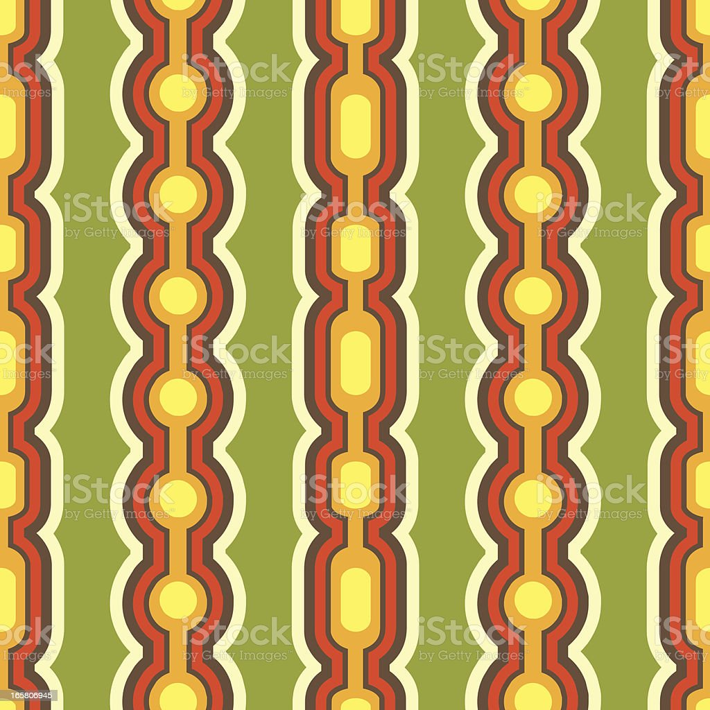 Retro Seamless Pattern Illustration royalty-free stock vector art