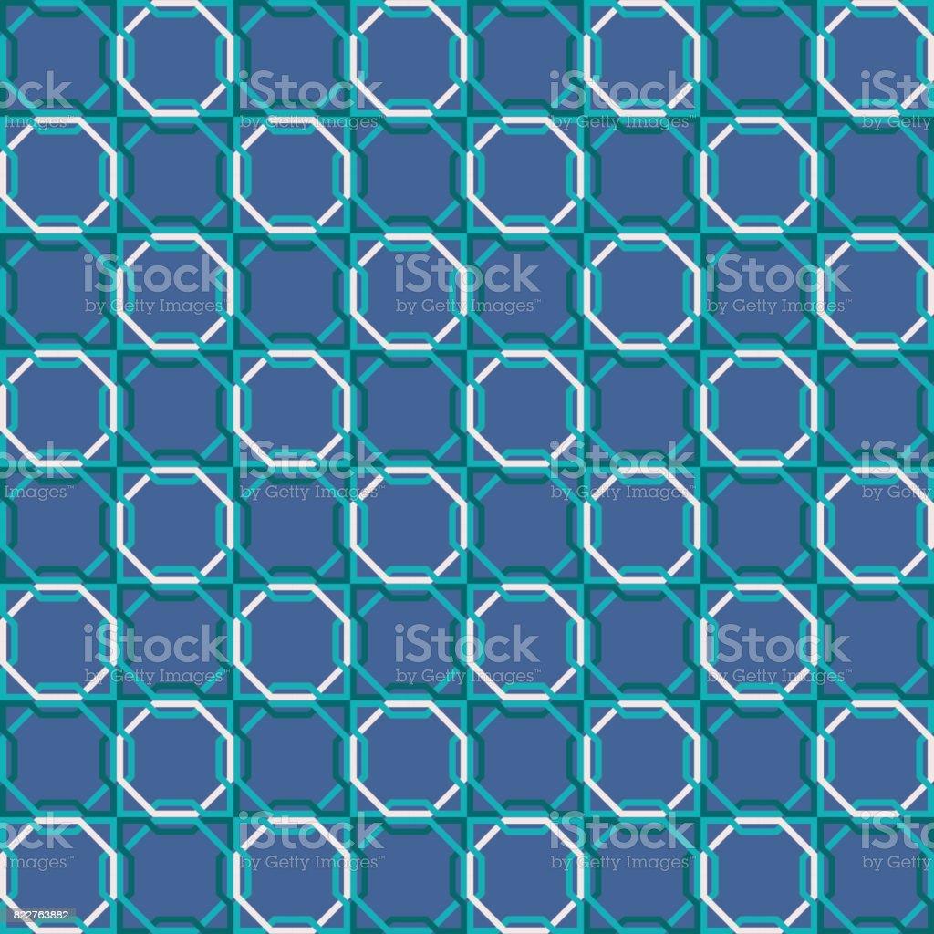 Retro Musterdesign Muslimischen Mosaik Fliesen Dekoration Lizenzfreies  Retromusterdesign Muslimischen Mosaik Fliesen Dekoration Stock Vektor Art