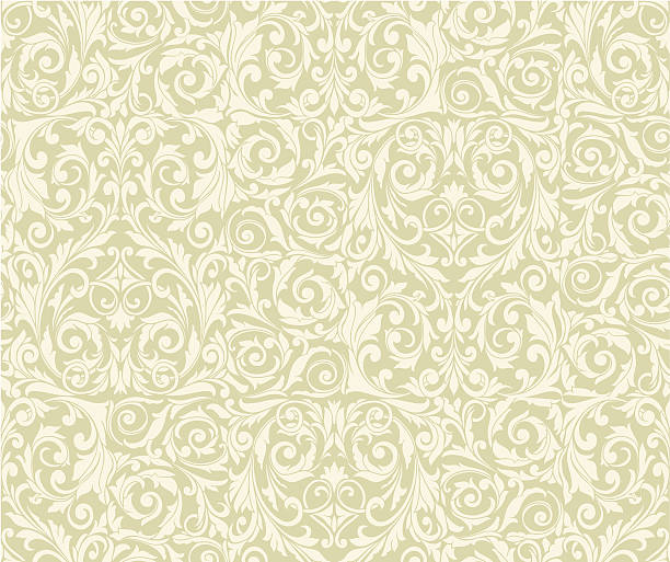 retro seamless pattern - floral and decorative background stock illustrations