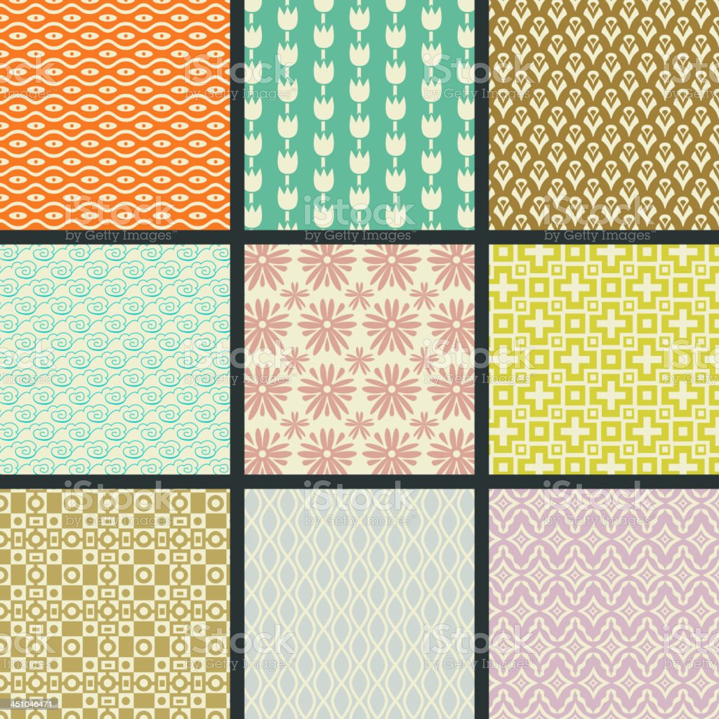 Retro seamless patterns royalty-free retro seamless patterns stock vector art & more images of backgrounds