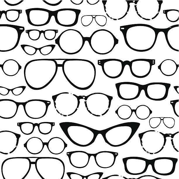 Retro Seamless spectacles vector art illustration