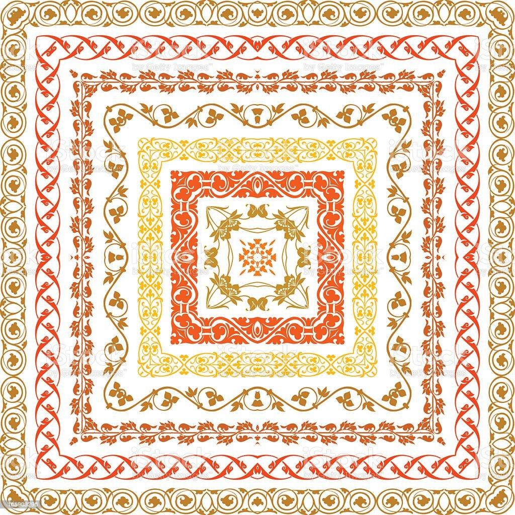 Retro set lines royalty-free stock vector art