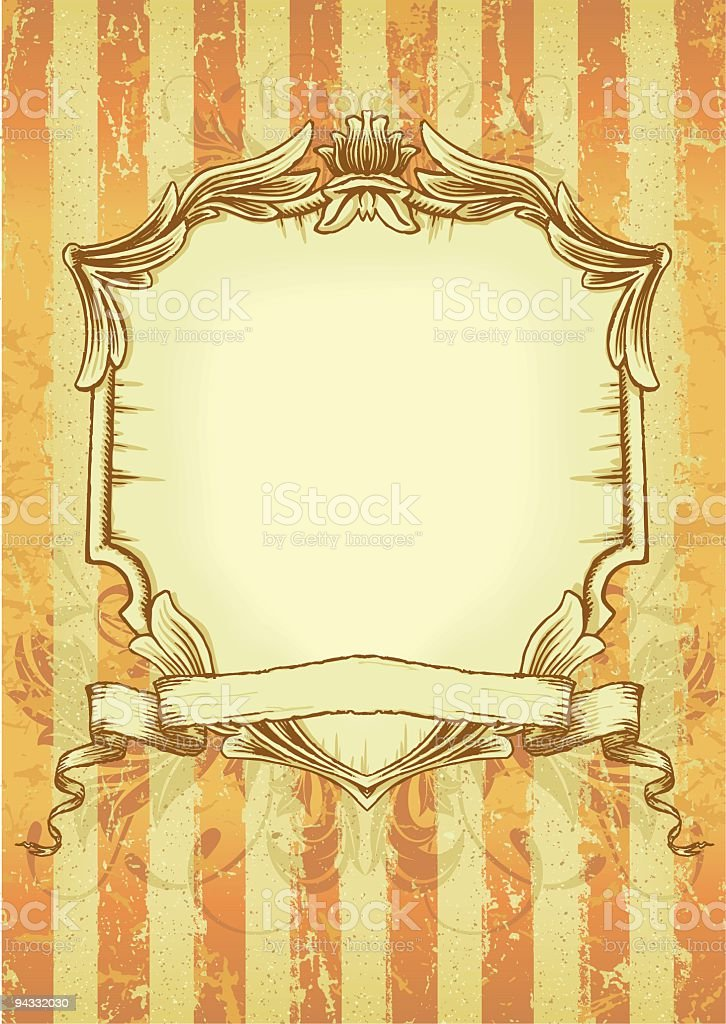 Retro Shield and Banner royalty-free stock vector art