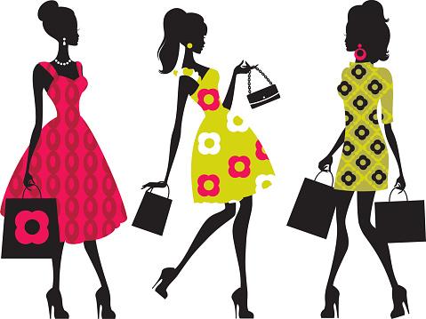 Retro Shopping Girls