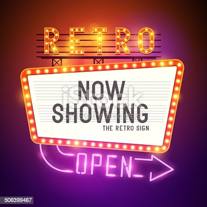 istock Retro Showtime Sign Vector 506399467