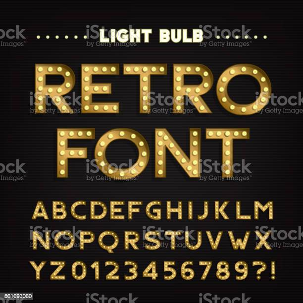Retro sign alphabet vintage light bulb type letters and numbers vector id861693060?b=1&k=6&m=861693060&s=612x612&h=m1jg q6q65ss6y3 l1r6z6mbrwp0ulmjyusvjelpd4q=