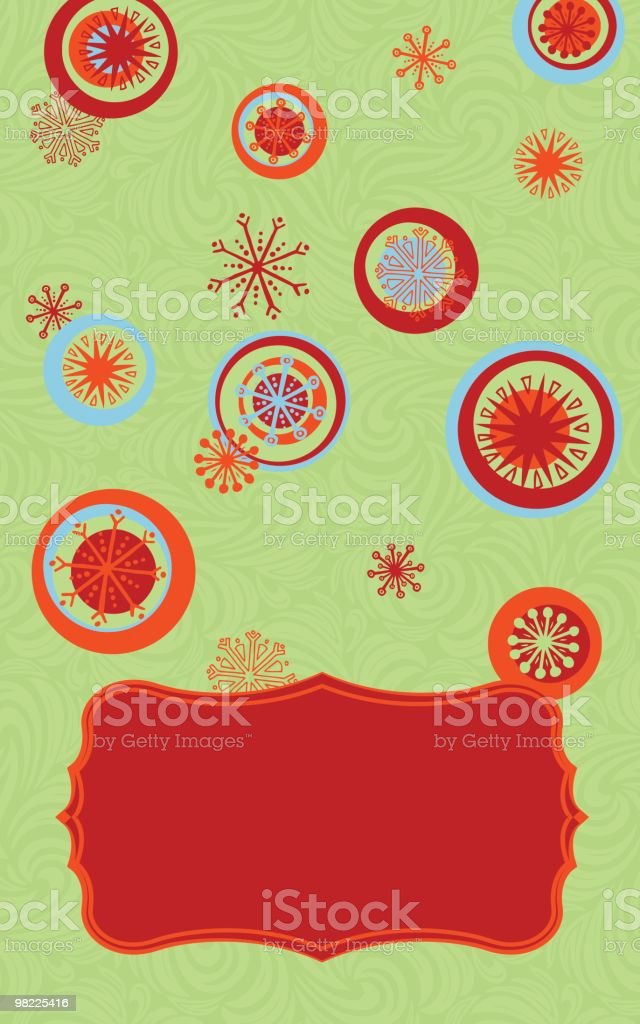 Retro Snowflake Card royalty-free retro snowflake card stock vector art & more images of backgrounds