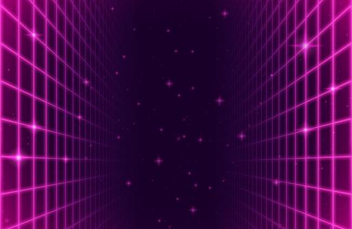Retro Space Arcade Grid Background