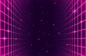 istock Retro Space Arcade Grid Background 1280315159