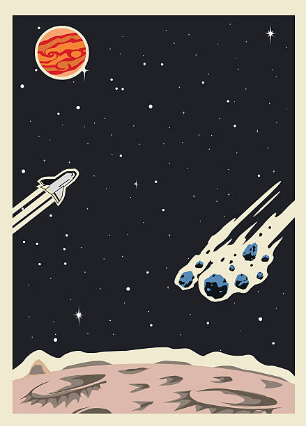 retro space poster template - copy space stock illustrations, clip art, cartoons, & icons