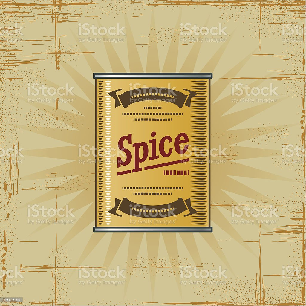 Retro Spice Can royalty-free retro spice can stock vector art & more images of can