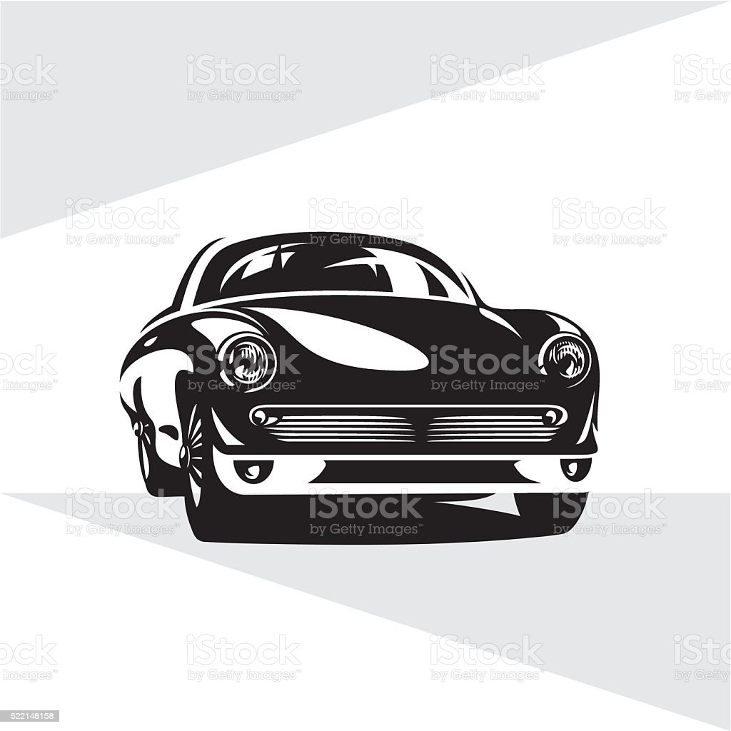 Retro sports car vector art illustration