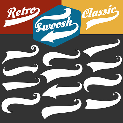Retro sports swoosh tails set
