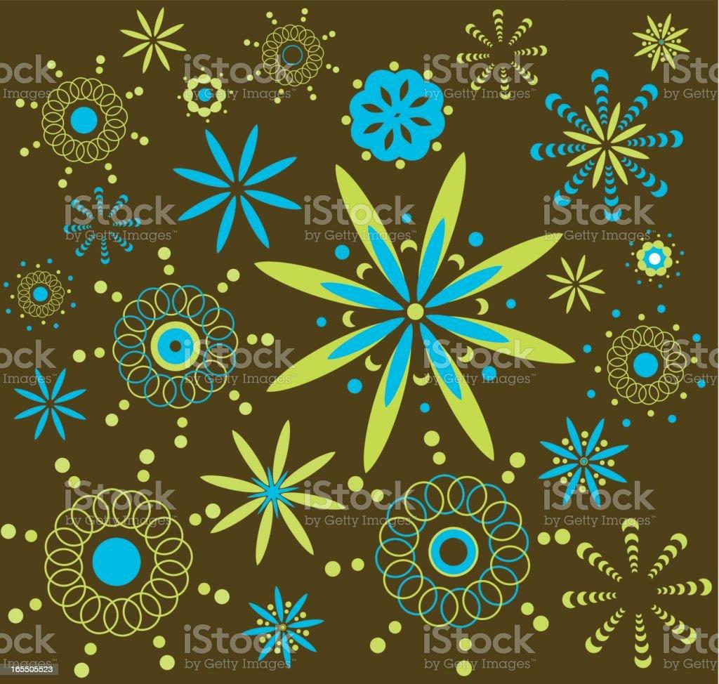 Retro spring pattern royalty-free stock vector art