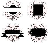 retro starburst labels