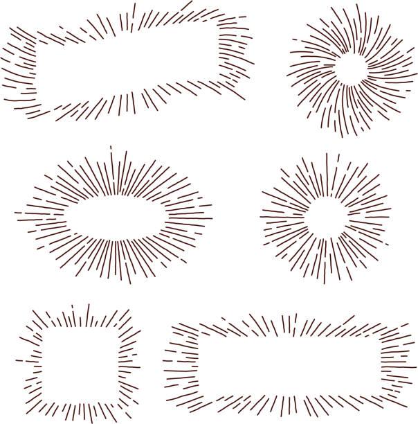 illustrations, cliparts, dessins animés et icônes de ensemble rétro starburst - illustrations de flare