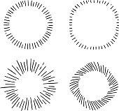 retro starbursts design elements set