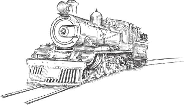 Best Old Train Illustrations, Royalty-Free Vector Graphics