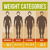 Retro style body mass index poster