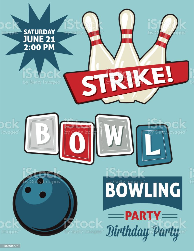 Pretty Bowling Party Invitation Template Images Gallery