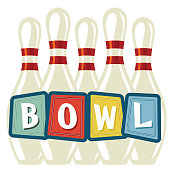 istock Retro Style Bowling Pins And Sign 1266813492