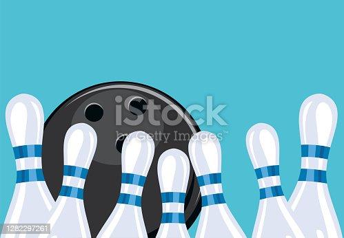 istock Retro Style Bowling Tournament Background 1282297261