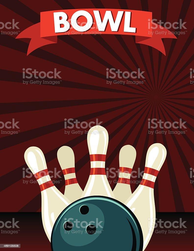 Bowling League Flyer Bowling Tournament Premium Psd Flyer Template