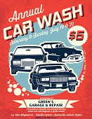 Retro Style Car Wash Ad