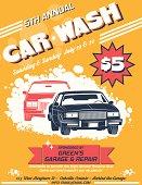 Retro Style Car Wash Ad