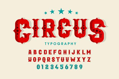 Retro style circus font