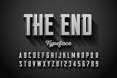 Retro style condensed font