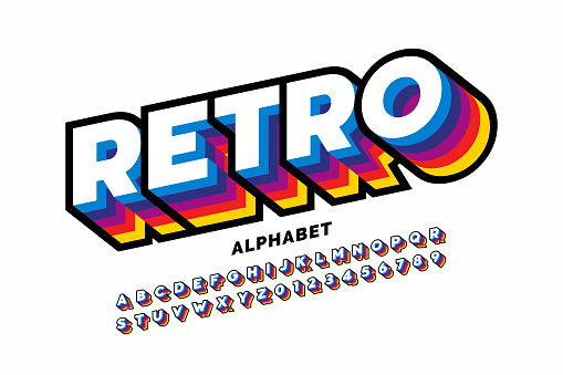 Retro style font
