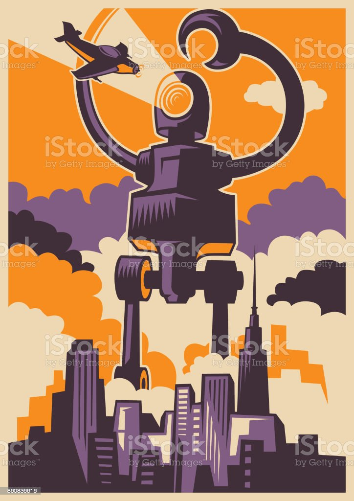 Retro style illustration. vector art illustration