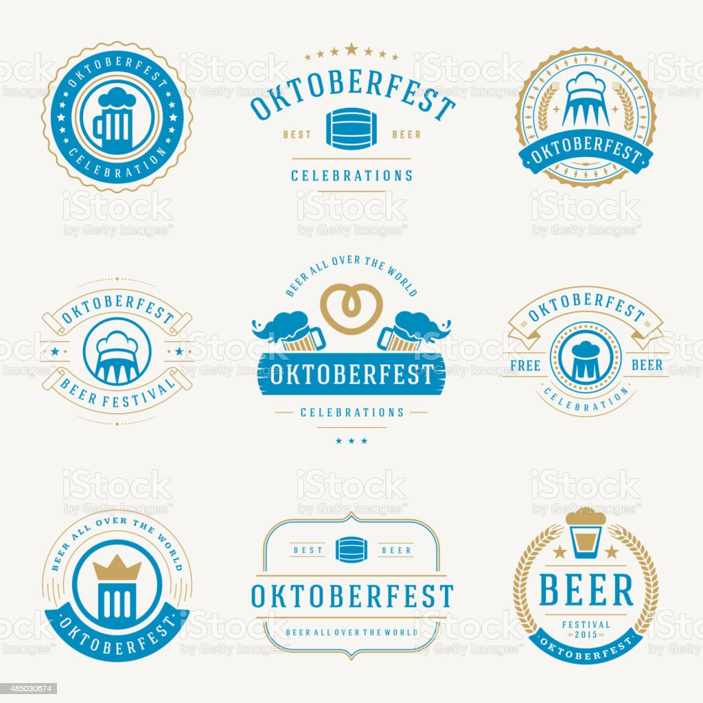 Retro style labels, badges and logos set vector art illustration