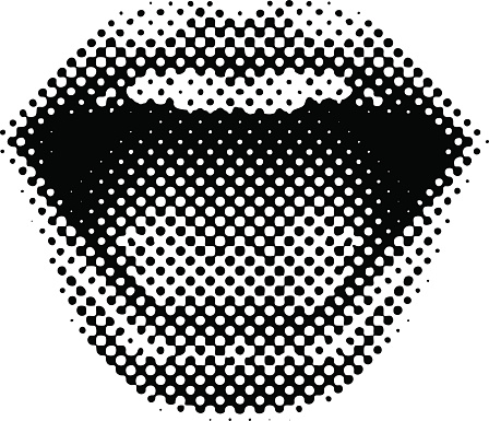 Retro Style Mouth Laughing