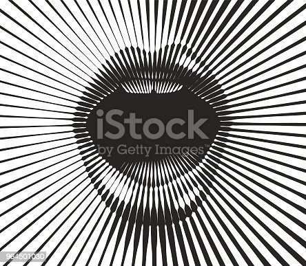 istock Retro style mouth with half tone pattern sunbeams 964501030