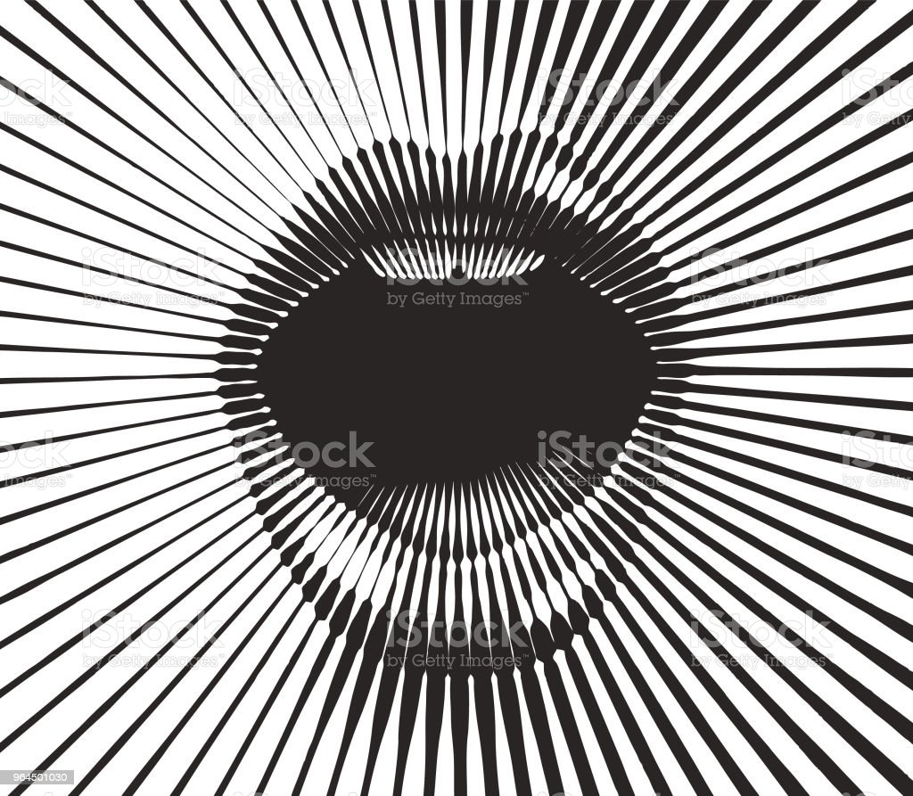 Retro style mouth with half tone pattern sunbeams - ilustração de arte vetorial