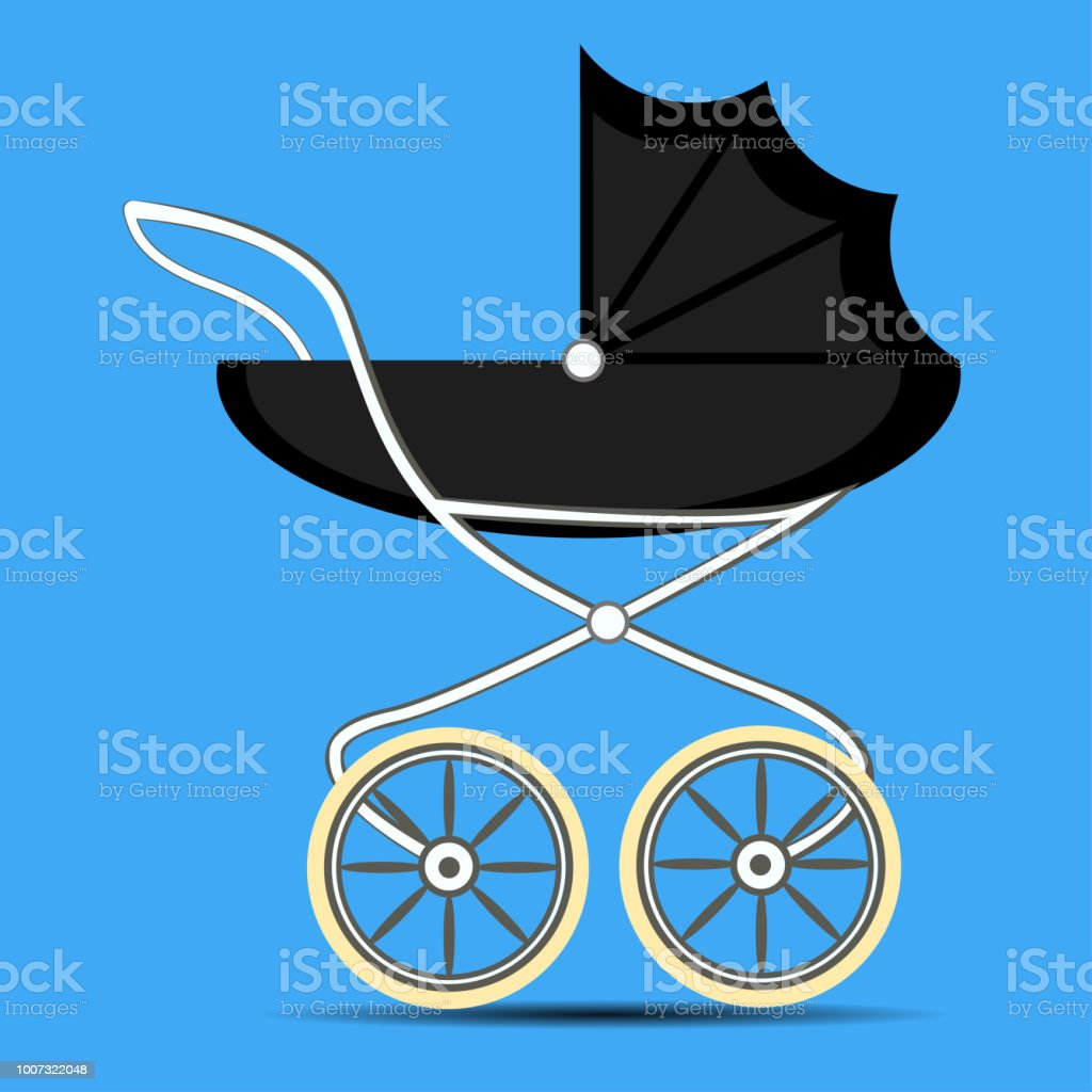 Retro style stroller baby carriage