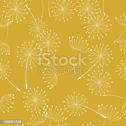 Fun background of wildflowers
