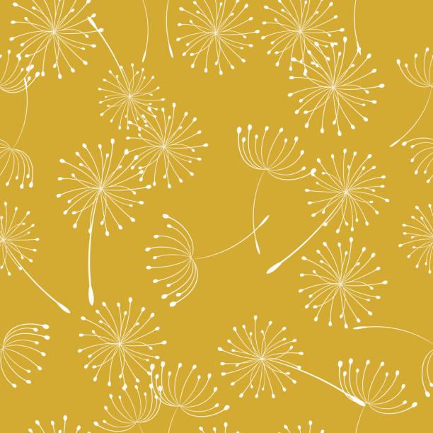 Retro Style Summer Weeds Seamless Pattern vector art illustration