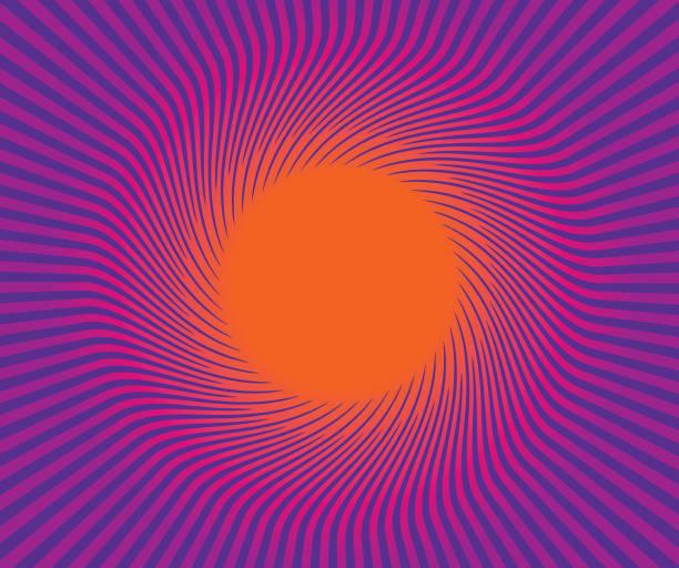 bildbanksillustrationer, clip art samt tecknat material och ikoner med retro stil sunburst vector bakgrund - pink sunrise
